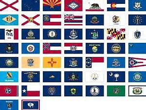 4 x 6 ft nylon 50 state flag set printed canvas heading and brass