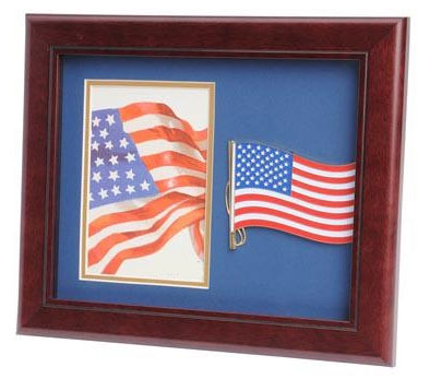 8 X 10 In Medallion Picture Frame American Flag Medallion