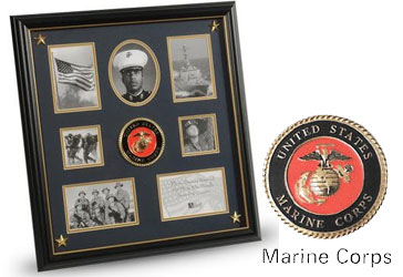 Military Collage Frame Marine Corp Medallion