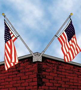 Outrigger Wall Mount Flag Poles