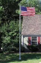 Fg30 30 Ft Fiberglass Flag Pole External Halyard 6 1 2 In Butt 3 In Top 175 Wall White American Flag And Gift