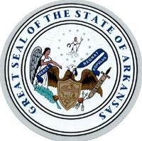 state seal arkansas 3 5 8 in diameter reflective american flag